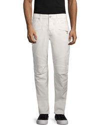 Hudson Jeans Blinder Biker Skinny Jeans - White