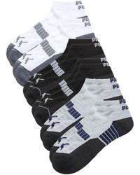 PUMA Men's 6-pack Terry Anklet Sport Socks - Grey Multi