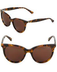 Ted Baker - 51mm Tortoise Cat Eye Sunglasses - Lyst