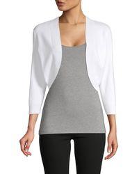 Saks Fifth Avenue Knit Bolero - White
