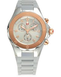 Michele Rose Goldplated Stainless Steel & Silicone-strap Chronograph Watch - Multicolor