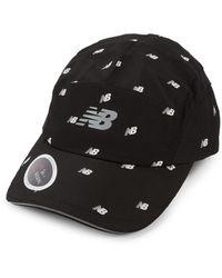 New Balance Textured Logo Baseball Cap - Black