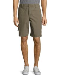 Weatherproof - Solid Cotton Shorts - Lyst
