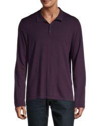 Vince Wool & Cashmere Polo - Purple