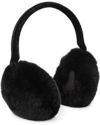 Annabelle New York - Dyed Rabbit Fur Ear Muffs - Lyst