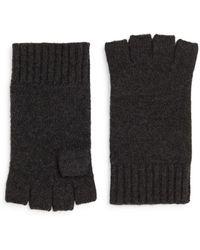 Saks Fifth Avenue Cashmere Fingerless Gloves - Grey