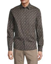 Michael Kors Regular-fit Logo Shirt - Black