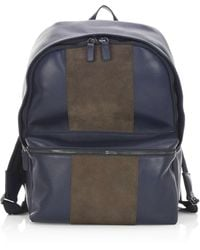 Saks Fifth Avenue Collection Colorblock Leather Backpack - Multicolour