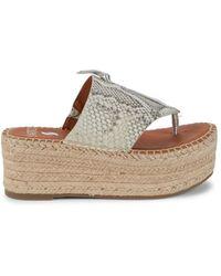 Sarto Malia Leather Platform Sandals - Natural
