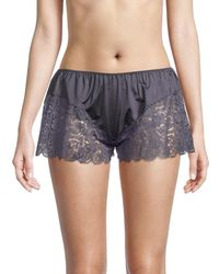 Hanro Women's Wanda Lace Shorts - Dust - Size S - Blue