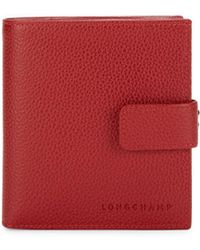 Longchamp Le Foulonne Compact Bi-fold Wallet - Red