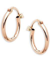 Saks Fifth Avenue 14k Rose Gold Hoop Earrings - Multicolour