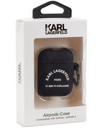 Karl Lagerfeld Logo Airpod Case - Black