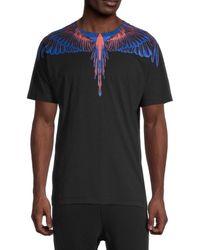 Marcelo Burlon Wings Graphic T-shirt - Black