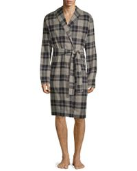 UGG - Jon Plaid Cotton Robe - Lyst
