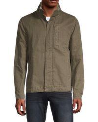 James Perse Men's Stowaway Hood Jacket - Black - Size 0 (xs)