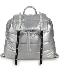 Sam Edelman Branwen Flap School Backpack - Metallic