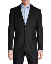 John Varvatos Men's Standard-fit Bedford Graph Check Cotton-blend Sportcoat - Black - Size 38 S