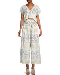 Free People Embroidered Cotton-blend Toluca Set - Multicolour