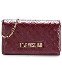 Love Moschino Women's Small Quilted Chain Crossbody Bag - Gold - Metallic