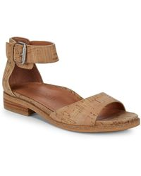 Gentle Souls - Gracey Natural Leather Ankle-strap Sandals - Lyst