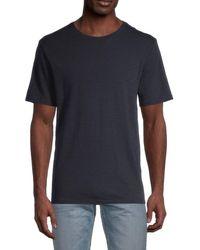 Vince Men's Slub T-shirt - Optic White - Size L - Blue