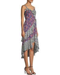 Parker Multicolor Sleeveless Midi Dress - Blue