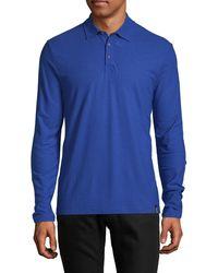 Vilebrequin Long-sleeve Cotton Polo - Blue