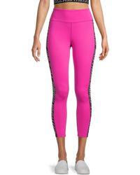 Pam & Gela Side Tape Leggings - Pink
