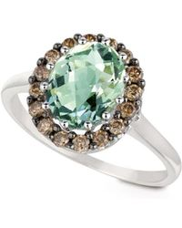 Le Vian - Chocolatier Green Amethyst, Brown Diamond And 14k White Gold Cocktail Ring - Lyst