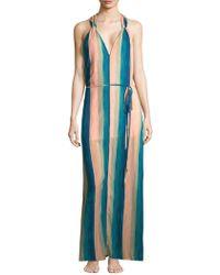 OndadeMar - Striped Maxi Dress - Lyst