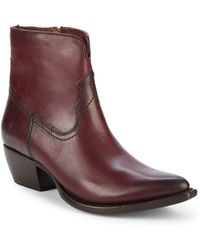 Frye - Shane Leather Short Boots - Lyst