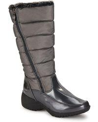 Khombu - Faux Fur Collar Boots - Lyst