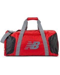 New Balance Men's Colorblock Player Duffel Bag - Red