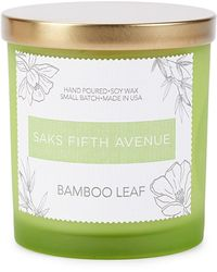 Saks Fifth Avenue Bamboo Leaf Candle - Green