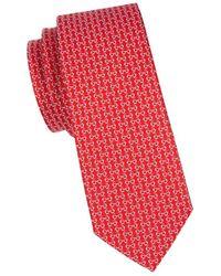 Ferragamo Ibiza Silk Tie - Red