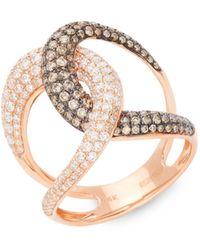 Gabi Rielle 14k White Gold & Diamond Pendant Necklace - Multicolour