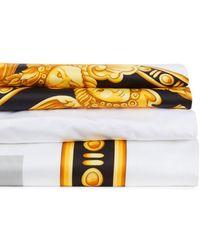 Versace Baroque-print Cotton Sheet Set - Yellow