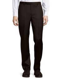 Saks Fifth Avenue - Micronosphere Solid Wool Trousers - Lyst
