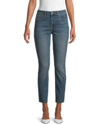L'Agence Women's High Rise Straight Jeans - Lagoon - Size 23 (00) - Blue