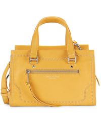 Marc Jacobs Cruiser Pebbled Leather Satchel - Yellow