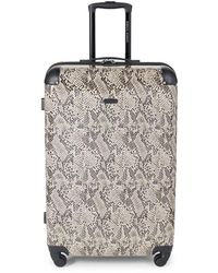 Rebecca Minkoff Pippa 28-inch Snakeskin-print Suitcase - Taupe - Brown