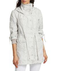 BLANC NOIR Camo Hooded Anorak Jacket - Gray
