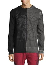 Affliction Shadow Effects Graphic Pullover - Black
