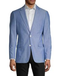 Tommy Hilfiger Men's Regular-fit Cotton Blazer - Blue - Size 44 R