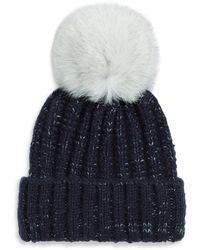 Kyi Kyi - Fox Fur Chunky Knit Beanie - Lyst