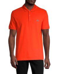 Lacoste Men's Logo Short-sleeve Polo - Orange - Size 5 (l)