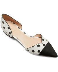 Kate Spade Maison Polka Dot Leather D'orsay Flats - White