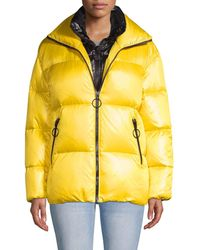 The Very Warm Double Collar Down Puffer - Yellow
