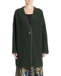 Lafayette 148 New York - Wool-blend One-buttoned Coat - Lyst